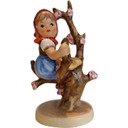 "Vintage Hummel Figurine ""Apple Tree Girl"" #141, Stylized Bee W. Germany"