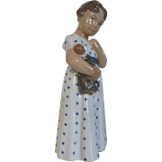 Royal Copenhagen Girl With Doll Figurine #3539 Denmark