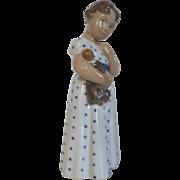 Royal Copenhagen Girl With Doll Figurine #3539 Denmark