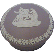 Wedgwood Lilac Jasperware Jewelry Trinket Box