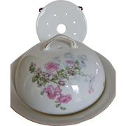 Antique Victoria Porcelain 3-Piece Covered Butter Cheese Dish Czech
