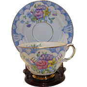 Rosina Hand Painted English Bone China Cup Saucer