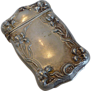 Silveroin Art Nouveau Match Safe /Vesta Case Bristol Mfg.