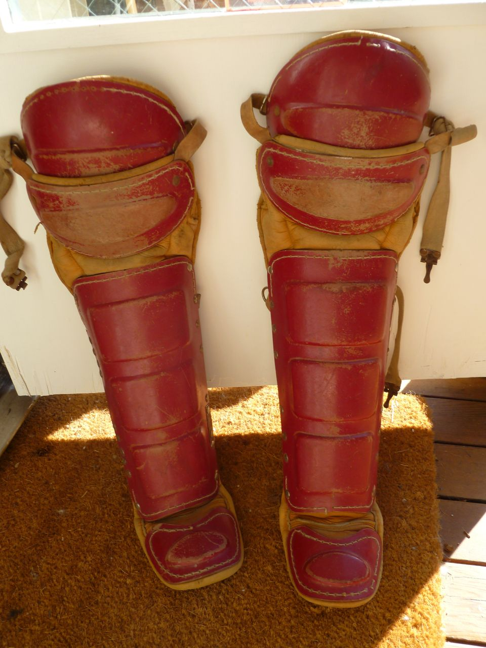 Vintage 1940's Rawlings Baseball Shin Guards