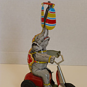 Tin Litho Wind-Up Circus Elephant Toy US Zone Germany