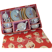 Luster Ware Child's Toy Tea Set Original Box Japan 13 pc - Red Tag Sale Item