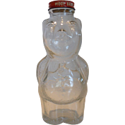 New England Syrup Co. Clear Glass Piggy Bank Bottle