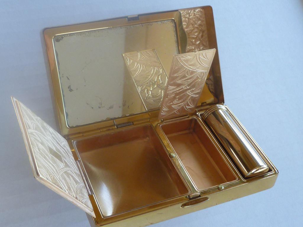 Elgin American Beauty Art Deco Cosmetic Compact Carryall