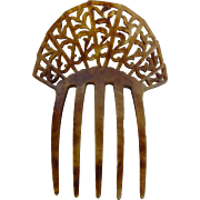 Faux Tortoiseshell Mantilla Style Hair Comb Accessory