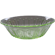 Depression Glass Green Colonial Large Berry Bowl