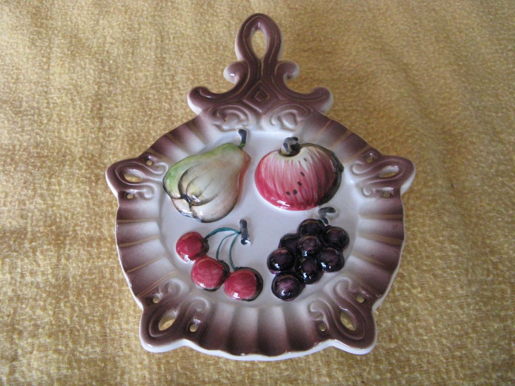 Vintage Fruit Wall Pocket