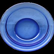 Depression Glass Cobalt Blue Moderntone Large Berry Bowl
