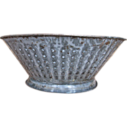 Mottled Gray Enamelware / Granite Colander or Strainer