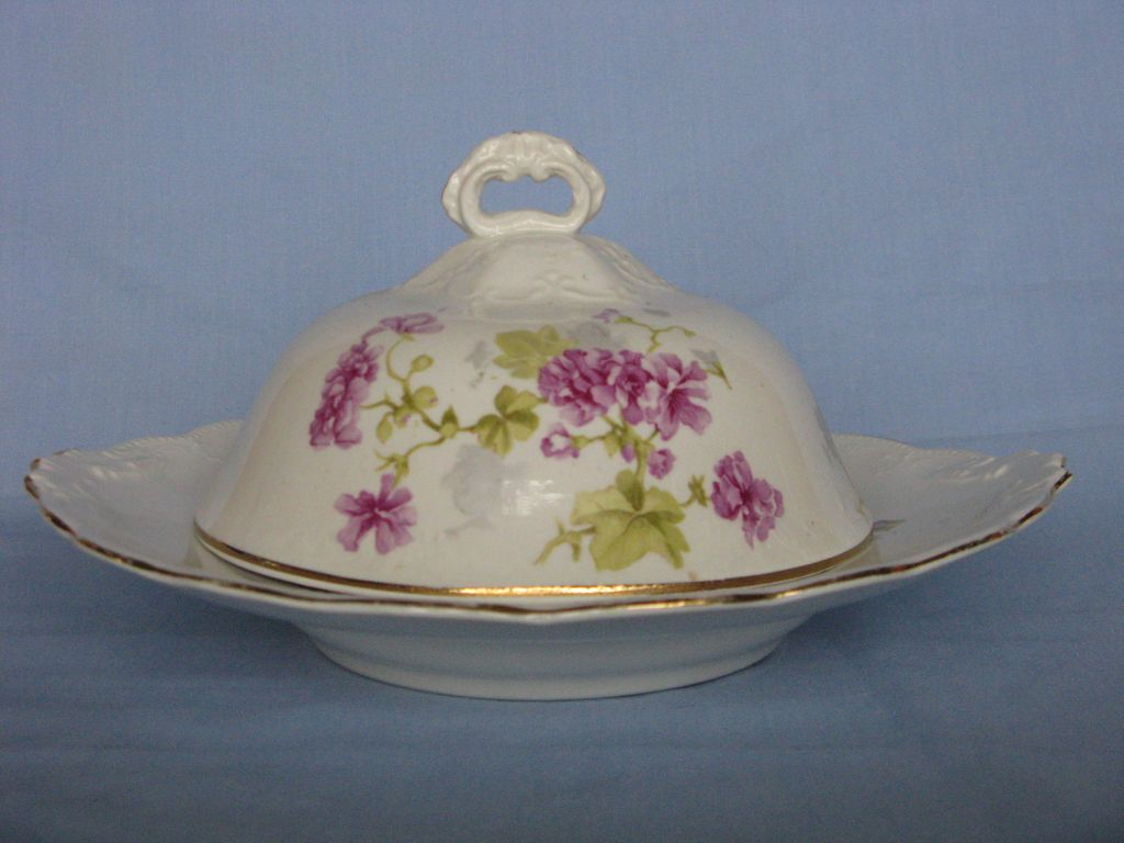 Early Hall China Butter/Cheese Dish with Cover