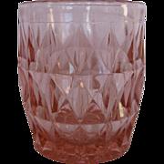 Depression Glass Pink Windsor Juice Tumbler