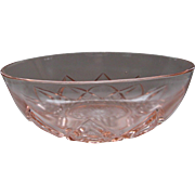 Hazel Atlas Large Pink Berry Bowl