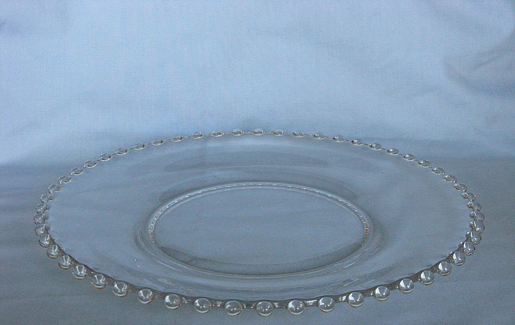 Imperial Glass Candlewick  Dinner Plate