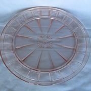 Depression Glass Pink Doric Dinner Plate