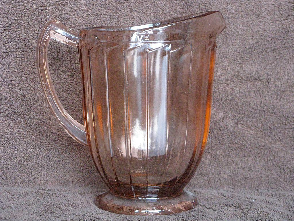 Depression Glass Pink Sierra Pitcher