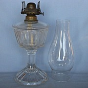 Duncan Bar Rayed Panel Oil Lamp