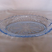 Cambridge Glass Caprice Moonlight Blue Condiment Tray