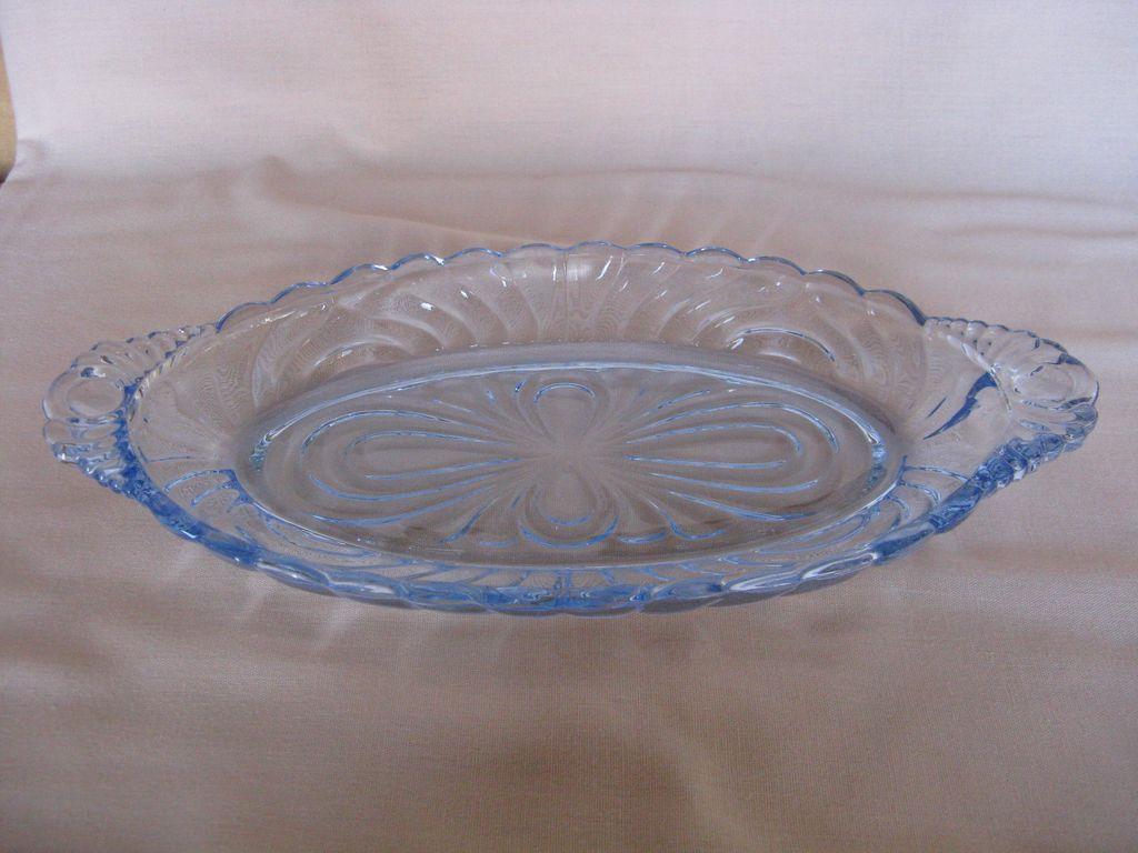 Cambridge Glass Caprice Moonlight Blue Condiment Tray