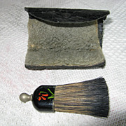 Vintage Travel Size Clothes Brush and Shoe Shine Buffer