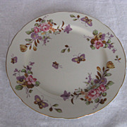 "Lefton China Hand Painted Spring Bouquet Butterfly 9"" Plate"