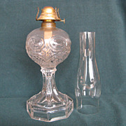 Cottage With Paneled Base Oil Lamp