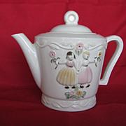 Porcelier 6 Cup Dutch Boy And Girl Teapot