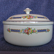 Hall China Blue Bouquet Thick Rim Casserole