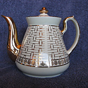 Hall China Philadelphia Ivory Teapot Gold Label Line