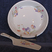 Hall China Tulip Pie Plate & Server