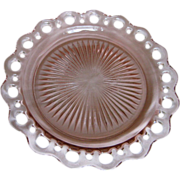 """Depression Glass Old Colony """"Lace Edge"""" Dinner Plate"""