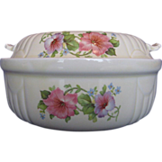 "Hall China Pastel Morning Glory ""Radiance"" Casserole"