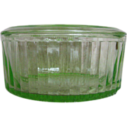 "Anchor Hocking Green Transparent 8"" Refrigerator Dish"