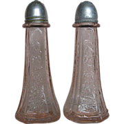 "Mayfair ""Open Rose"" Pink Salt & Pepper Shakers"