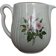"Hall China Heather Rose ""Rayed"" Jug"