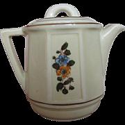 Porcelier 2 Cup Sunken Panel Teapot