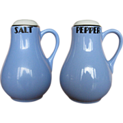 Hall China Royal Rose Handled Salt & Pepper Shakers
