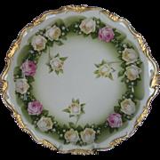 "Rosenthal (Bavaria) Roses Sandwich Plate ""Alice"""