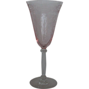 Tiffin Glass Flanders Pink Water Goblet