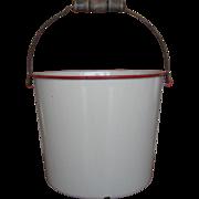 Enamelware Milk Bucket or Pail