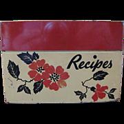 Hall China Red Poppy Recipe Box