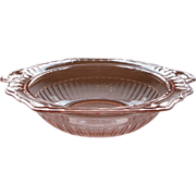 Depression Glass Pink Mayfair Vegetable Bowl