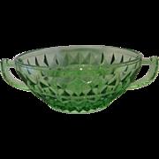 Jeannette Glass Green Windsor Cream Soup