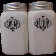 Hazel Atlas Sugar & Flour Shakers