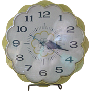 General Electric Yellow Daisy Kitchen Clock