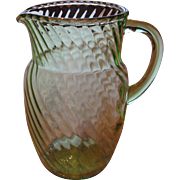 Hocking Glass Spiral Pitcher