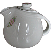 Hall China Rose White Teapot